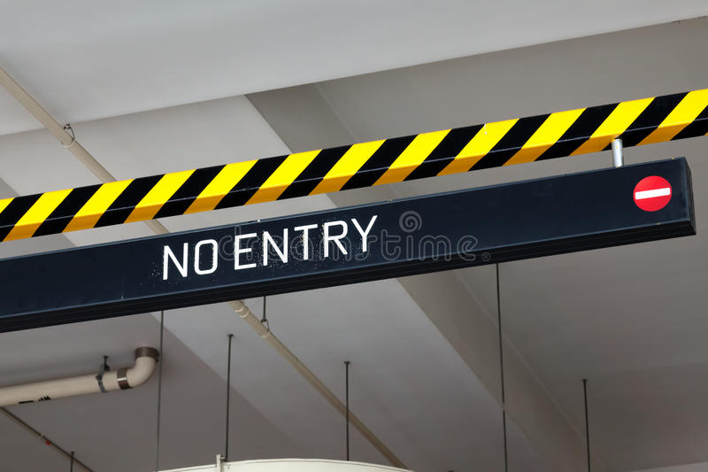 Download No entry sign stock image. Image of street, security - 28746277