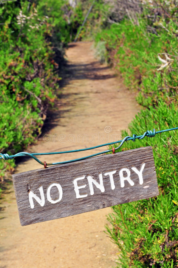 No Entry Stock Photo