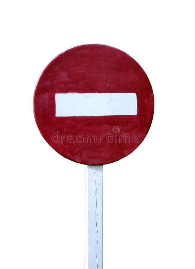 No entry sign, isolated stock photography