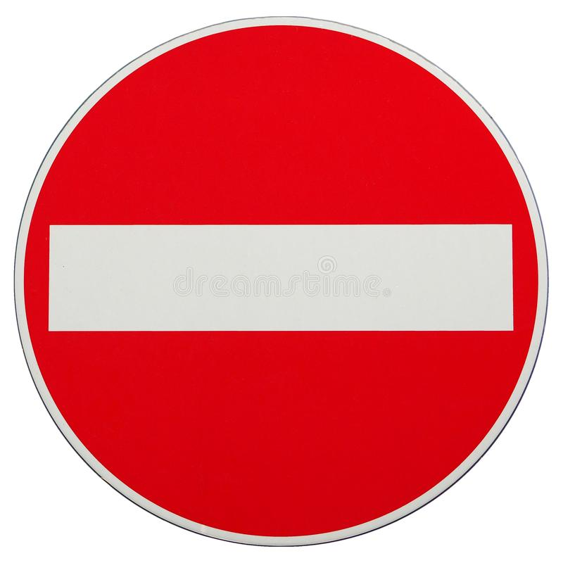 Free No Entry Sign Isolated Over White Stock Photos - 103055123