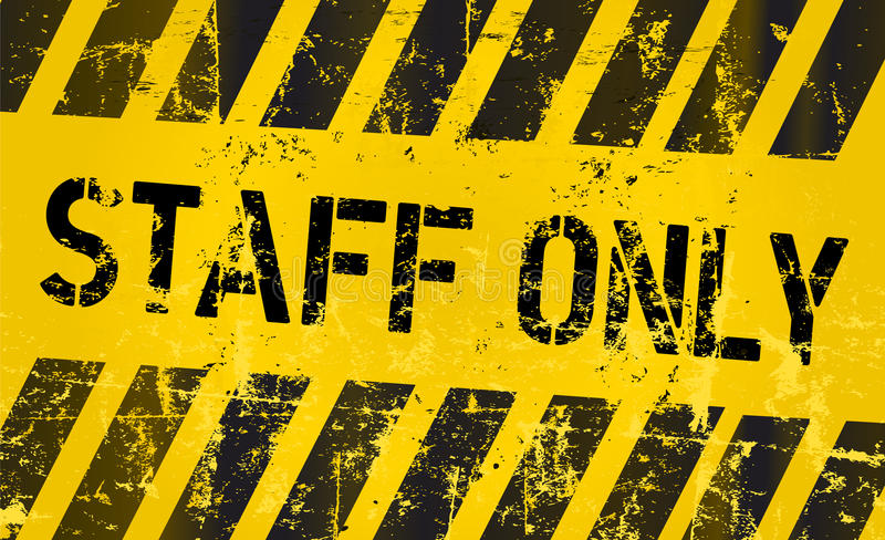 staff only sign vector illustration