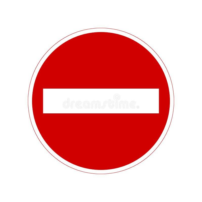 No entry sign. Vector art vector illustration
