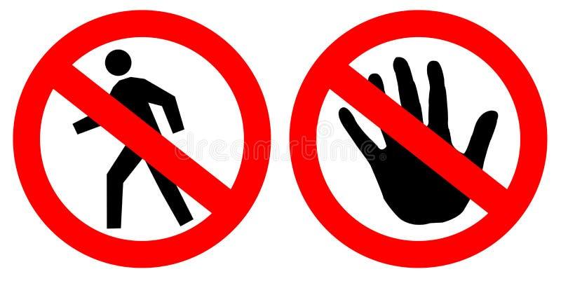 No entry signs vector illustration