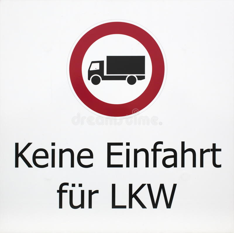 No Entry For Trucks stock photo. Image of symbol, created - 48062416