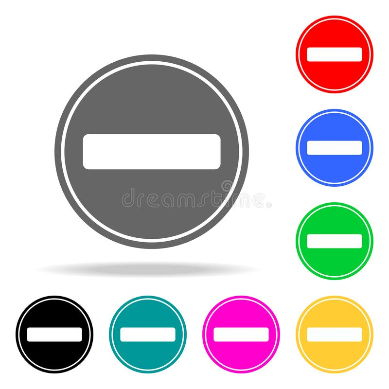 No Entry for Vehicular Traffic Sign icon. Elements in multi colored icons for mobile concept and web apps. Icons for website desig royalty free illustration