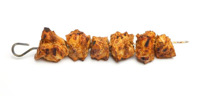 No espeto indiano de Tikka da galinha imagens de stock royalty free