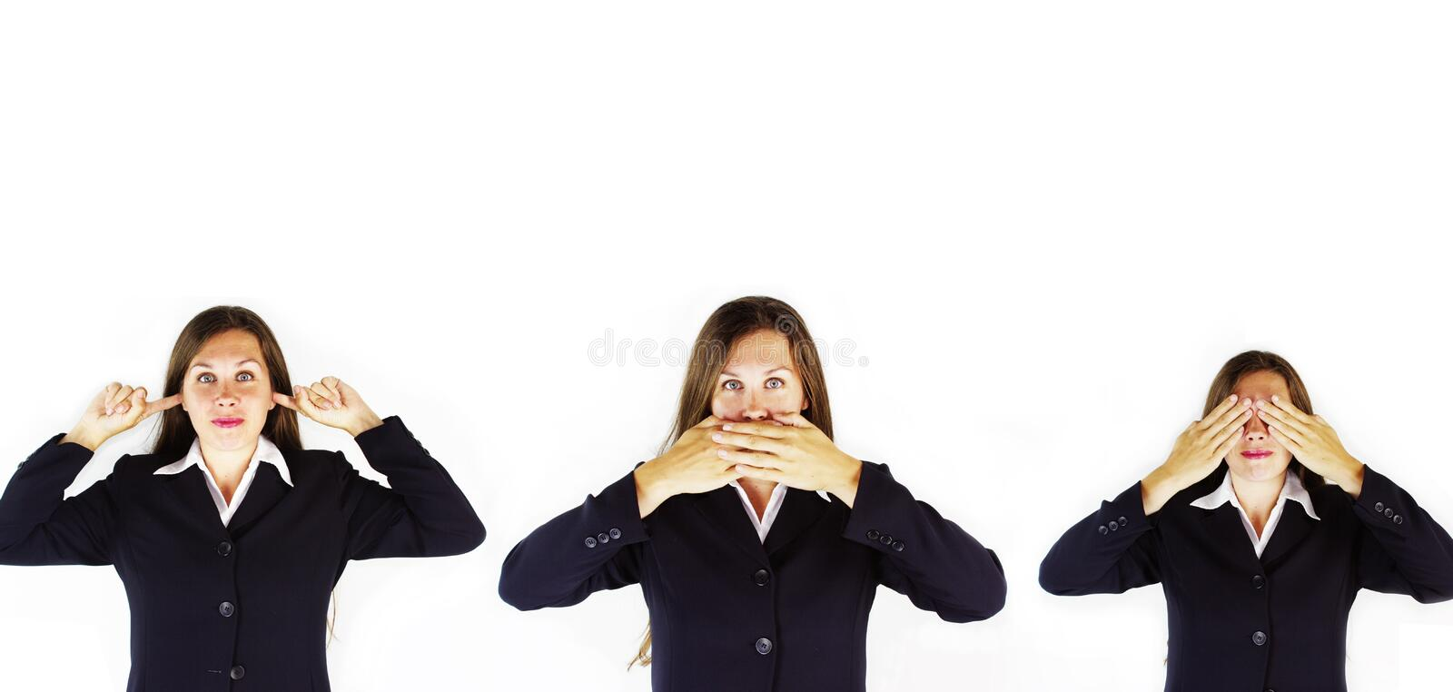 No Evil Business stock images