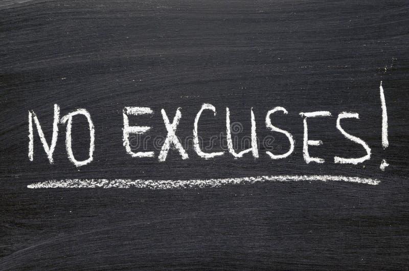 No excuses stock photo