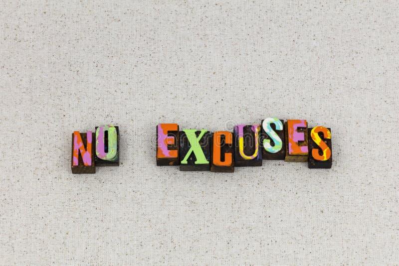 No excuses reason lies procrastination royalty free stock images