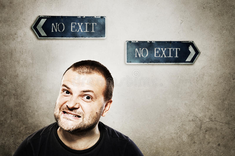 Download No exit stock image. Image of mouth, hair, dangerous - 28182125