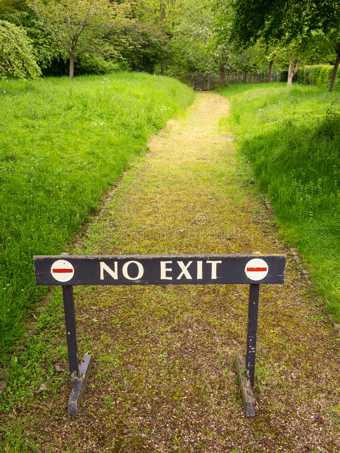 Free No Exit Barrier Sign Stock Photography - 35130402