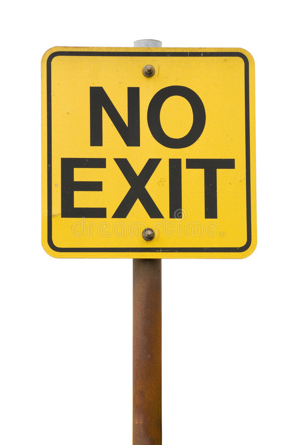 Free No Exit Sign Stock Photography - 2893272
