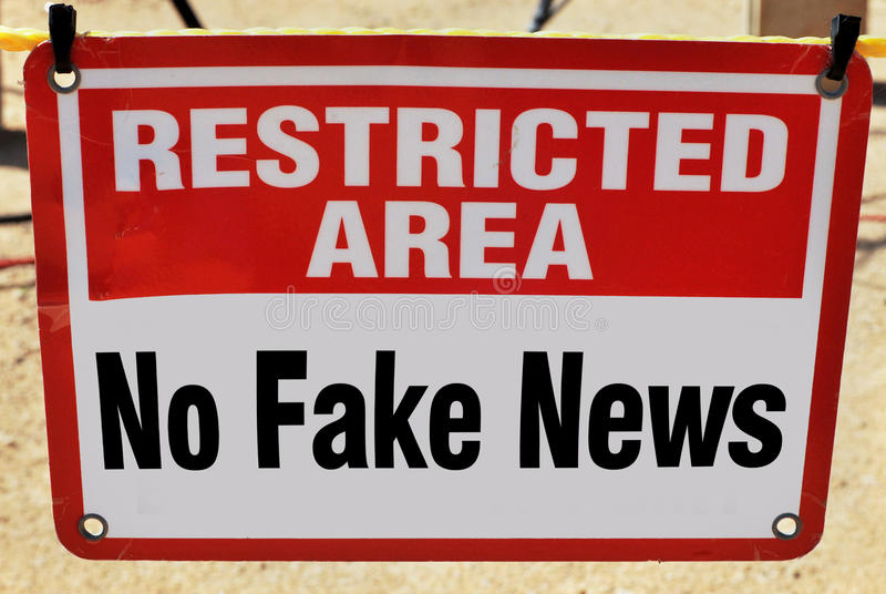No Fake News. Restricted area No Fake News allowed royalty free stock image