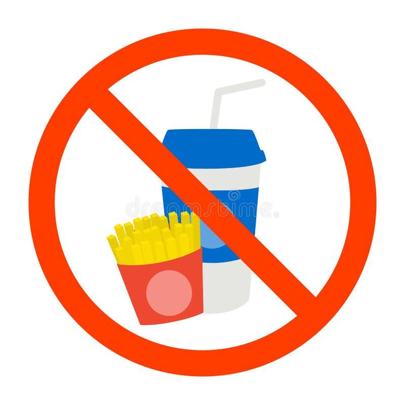 No fast food sign royalty free illustration