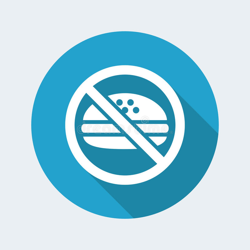 No fast-food. Vector illustration of `no fast-food` icon vector illustration
