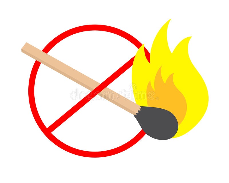No fire. Sign design of no fire vector illustration