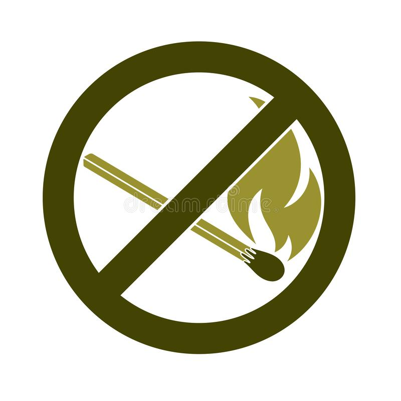 No Fire sign. Prohibition open flame symbol. Vector illustration vector illustration