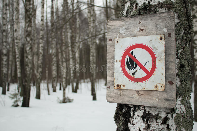 No-fire sign stock photo