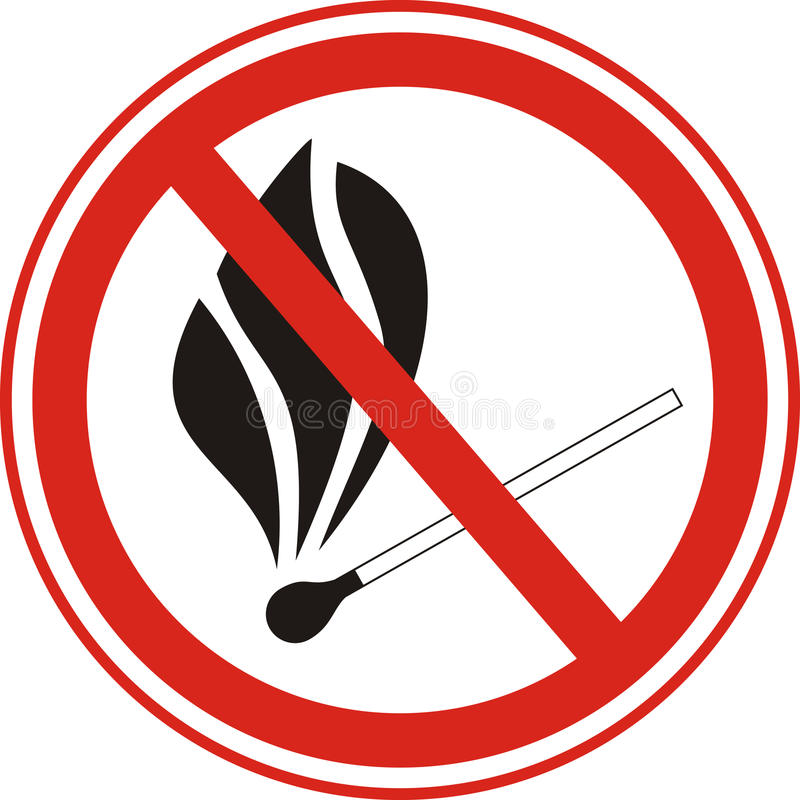 No fire stock photo