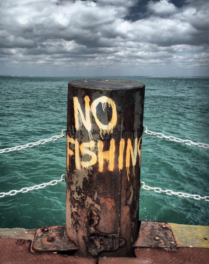 No fishing stock image