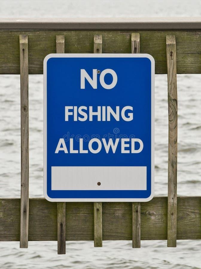 No Fishing Sign stock photo