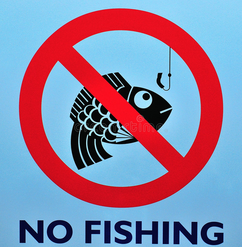 Download No Fishing Sign stock image. Image of prohibited, allowed - 7320493