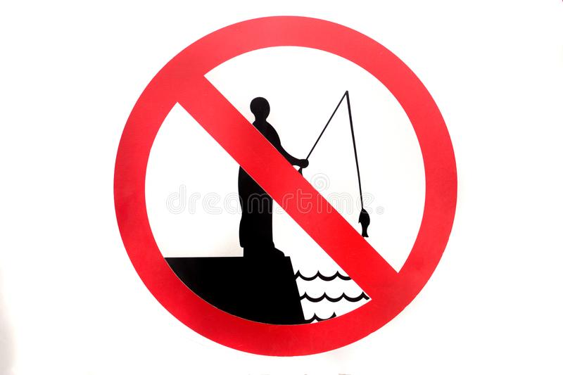 No fishing sign stock photography