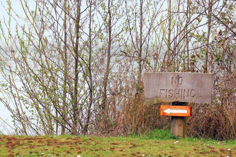 No fishing sign. stock photo