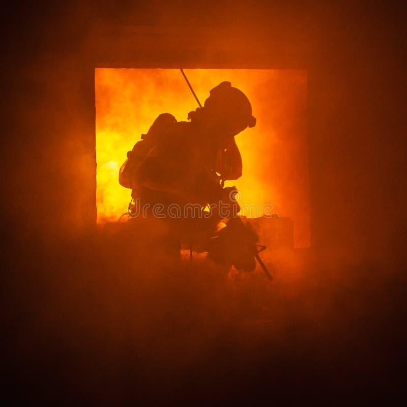 No fogo fotografia de stock