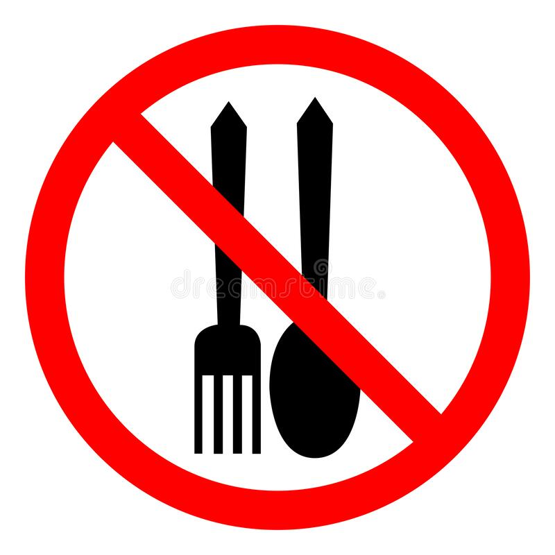 Free No Food Allowed Symbol On White Background Royalty Free Stock Photo - 217661065
