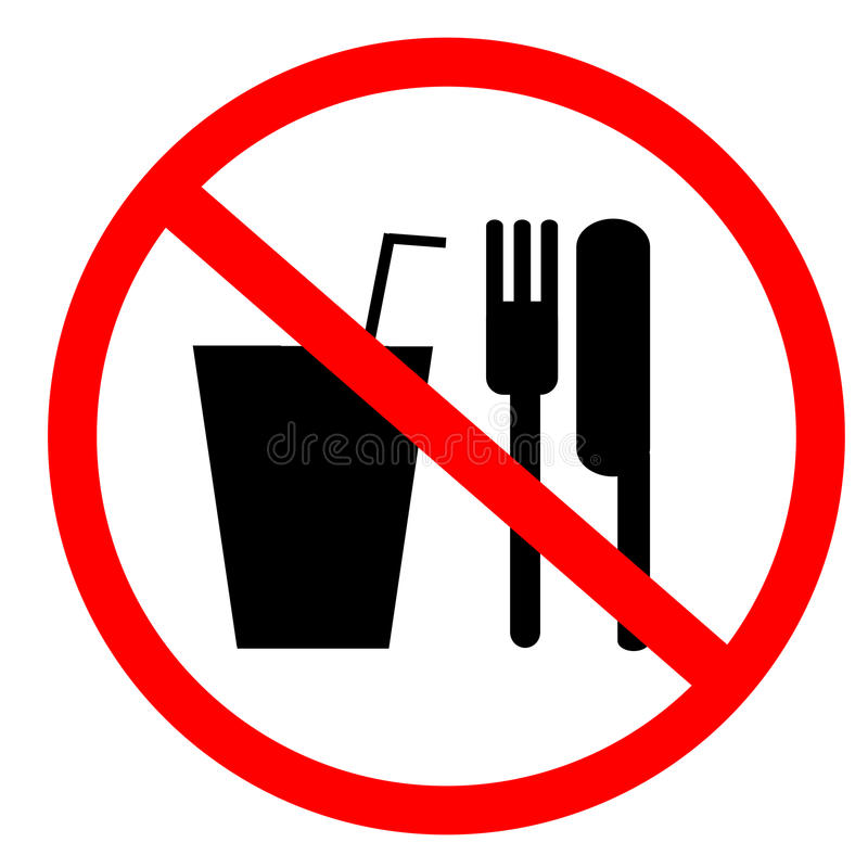 No food and drink sign vector illustration