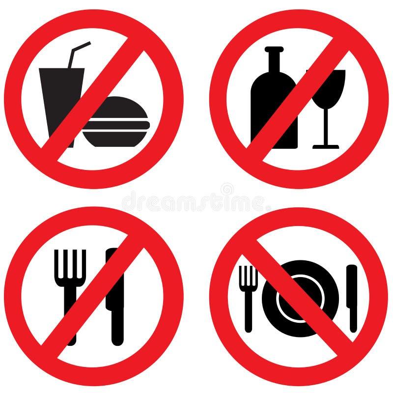 No Food Sign vector illustration
