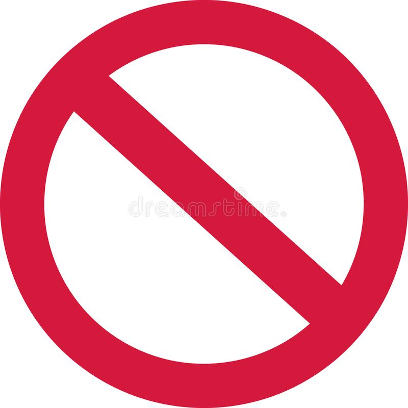 No forbidden sign. Vector icon stock illustration