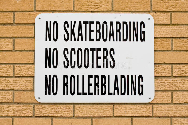 Download No fun stock photo. Image of prohibit, skateboarding - 14535804