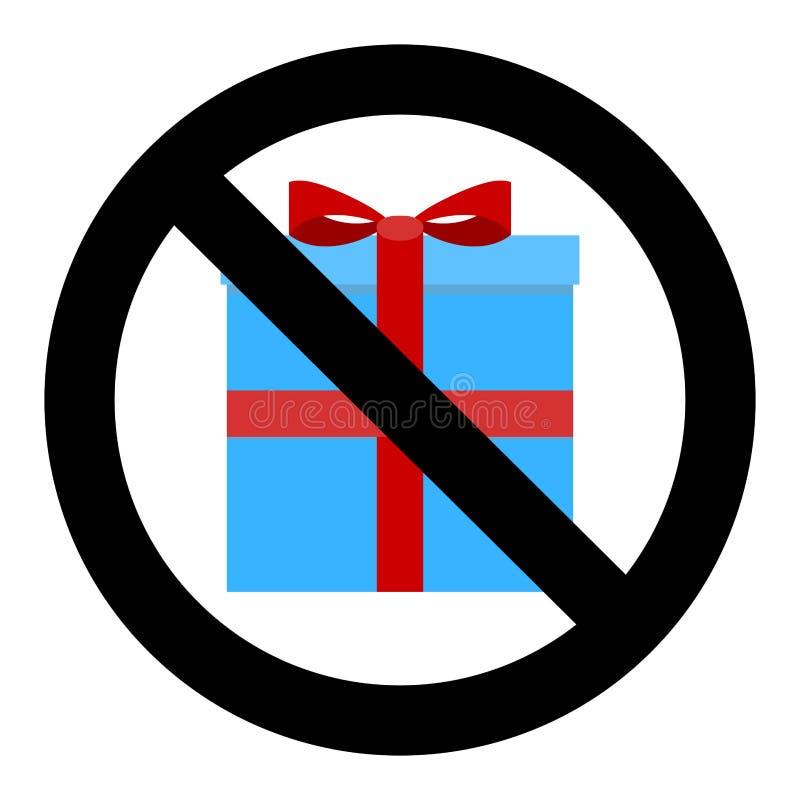 Red Banned Christmas Card Stock Illustration. Illustration