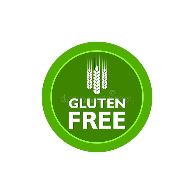 No gluten, gluten free food label or sticker flat icon royalty free illustration