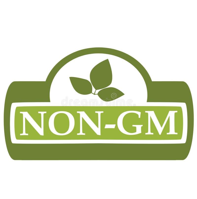 No-GM de la escritura de la etiqueta ilustración del vector