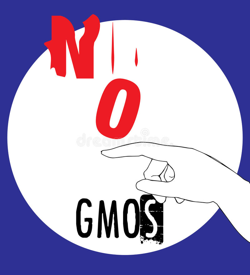 No GMOs Concept Design royalty free illustration