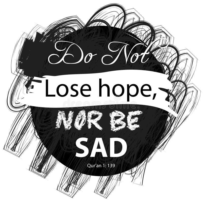 No gubi nadziei nor jest smutny ilustracja wektor