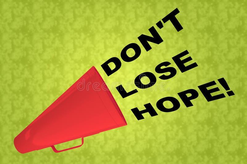 NO GUBI nadziei! pojęcie ilustracji
