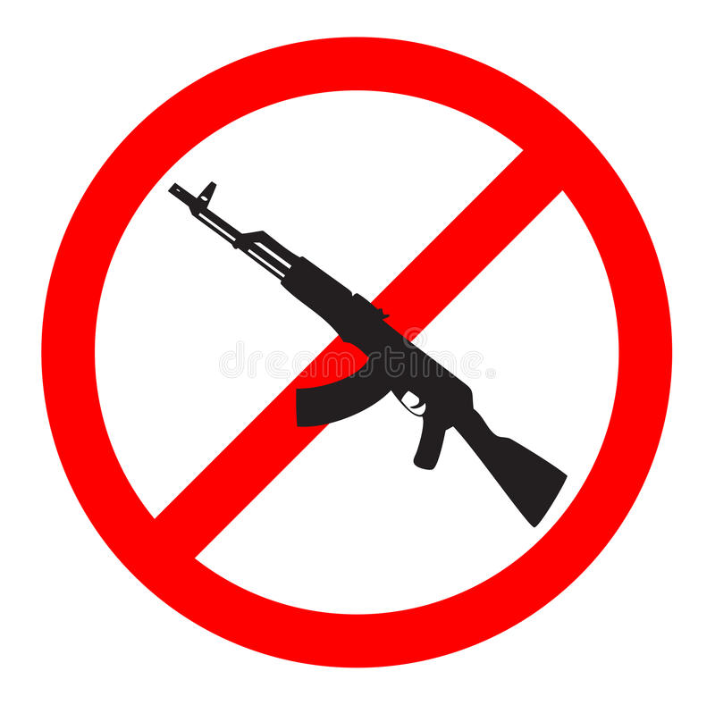 No Gun Sign And Symbol Stock Illustration Illustration Of Peace
