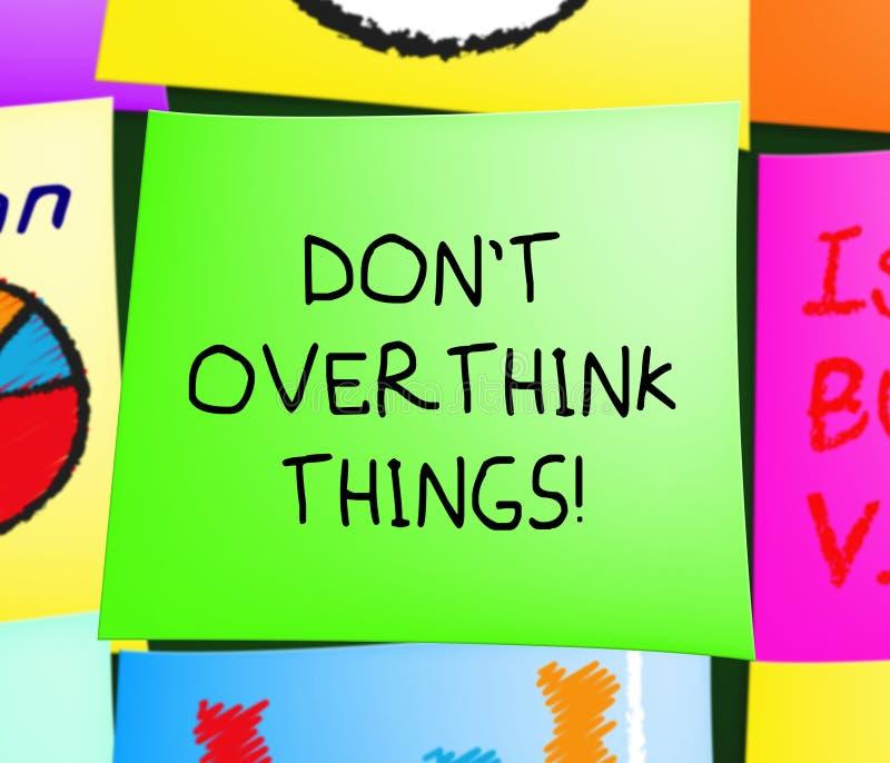 No hacen las exhibiciones de las cosas de Overthink demasiado ejemplo 3d libre illustration