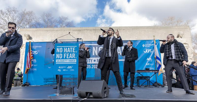 No Hate, No Fear Solidarity March stock photography
