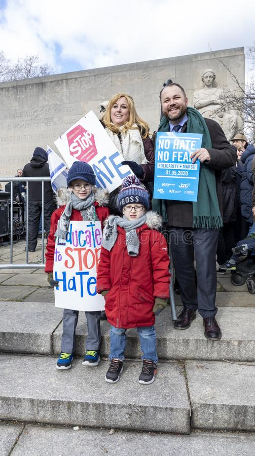 No Hate, NoFear Solidarity March stock photography