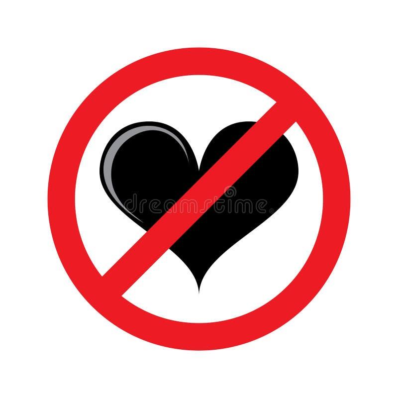 Free No Heart No Love Isolated Symbol Royalty Free Stock Photos - 125193138