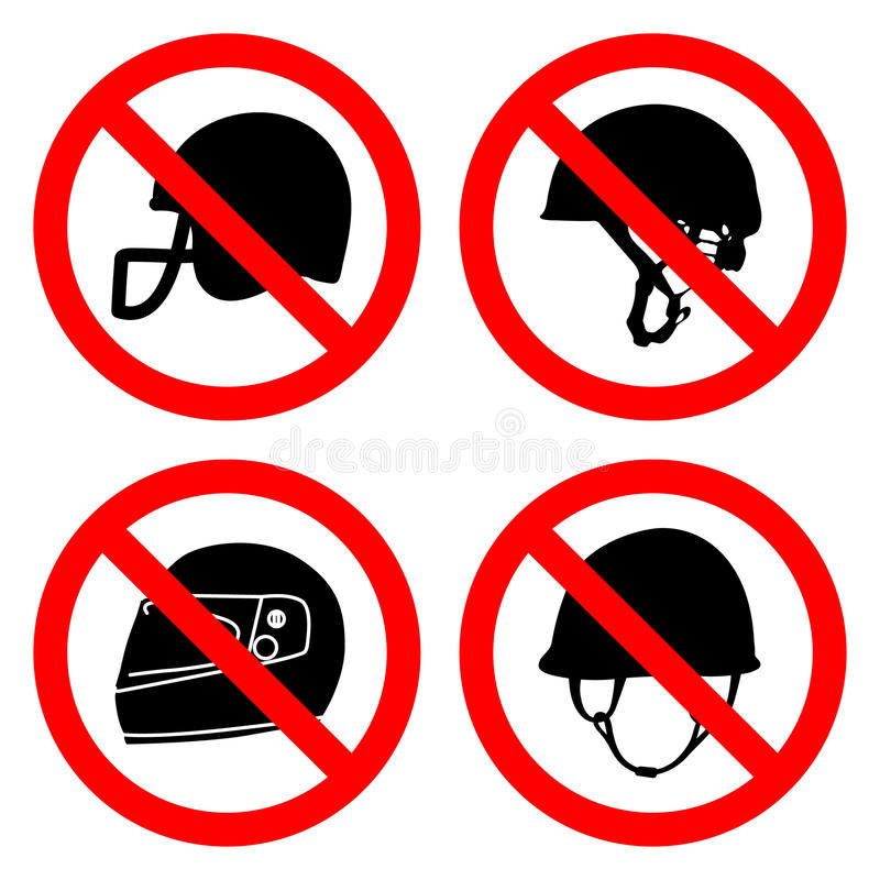 No helmets icons set great for any use. Vector EPS10. royalty free illustration