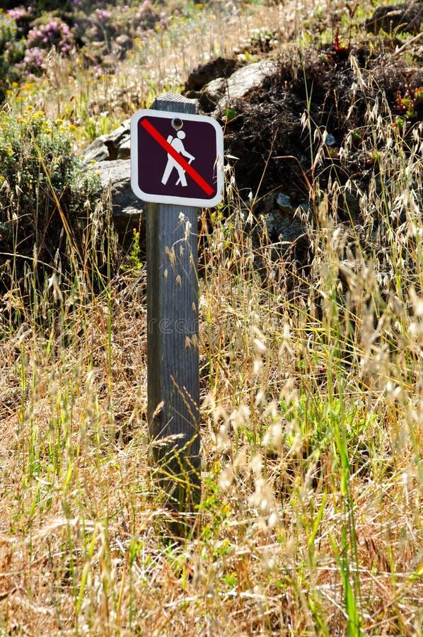 Download No hiking sign stock photo. Image of walk, interdiction - 22809976