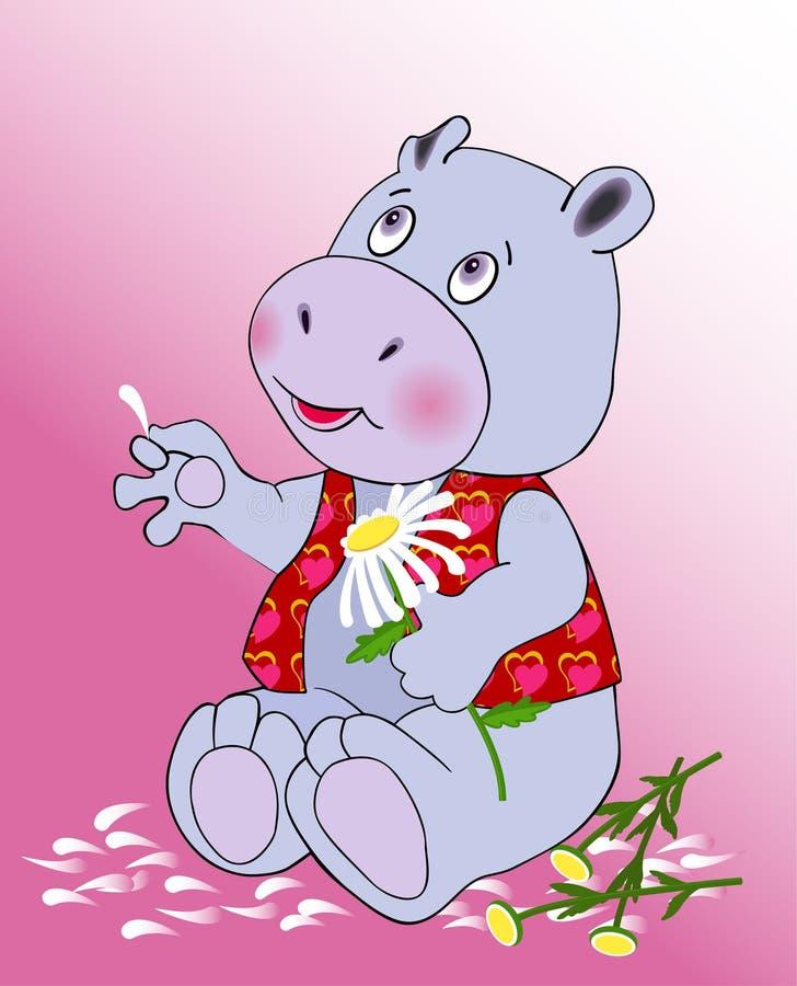 No hippopotamus do amor ilustração royalty free