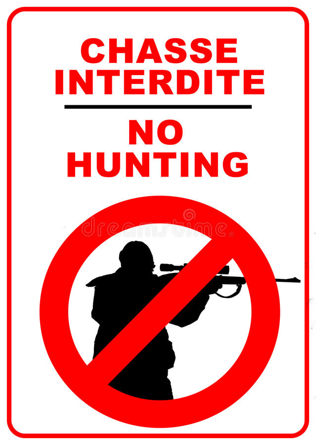 Download No hunting stock illustration. Image of rule, hunting - 23633995