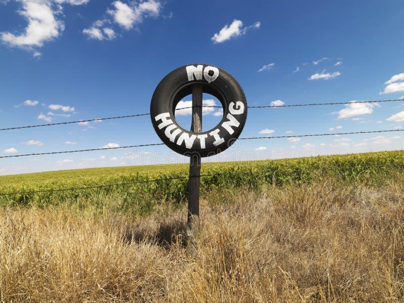 No Hunting notice. royalty free stock image